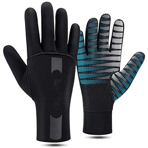 Traje de buceo guantes flexibles flotador caliente buceo pulmón buceo buceo buceo equitación guantes hombres y mujeres invierno, S-M