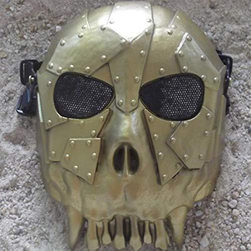 RCFRGV Halloween masker Desert Corps Skeleton volgelaatsmasker voor Halloween-party