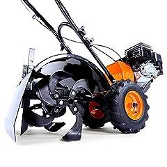 FUXTEC Benzine Tuin Cutter FX-AF200 Motor Hack Akkerbouw Grondsnijder Grond Snijder Met Wielen, 196cc 4.8KW / 6.5hp*