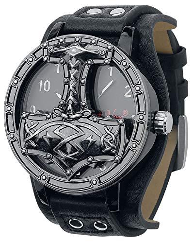 etNox Time Thors Hammer Männer Armbanduhren schwarz