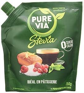 LE GOÛT DU SUCRE SANS CALORIE : Succombez à l'édulcorant à base de Stevia de PureVia ! La même saveur sucrée que du sucre classique, sans calorie ! Faites-vous plaisir sans culpabiliser ! Idéal en pâtisserie ! LA STEVIA, UN INGRÉDIENT NATUREL : Surno...