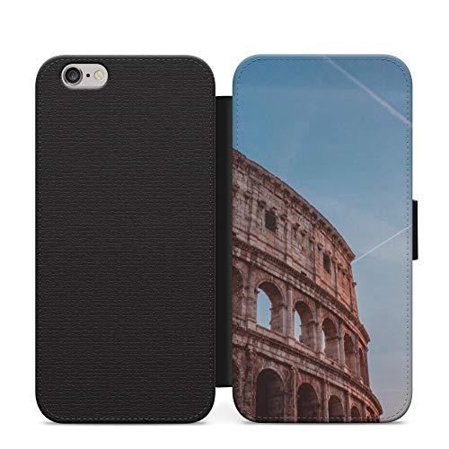 Romano Antiguo Teatro Roma Púrpura Maravillas del Mundo Unreal de la PU del Teléfono de la Caso de Cuero de la Cartera Para Huawei P40 Lite