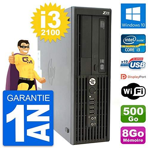HP Workstation Z210 SFF Core i3-2100 RAM 8 GB Disco 500 GB Windows 10 WiFi (reacondicionado)