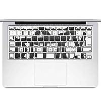igsticker MacBook Air 13inch 2010 ~ 2017 専用 キーボード用スキンシール キートップ ステッカー A1466 A1369 Apple マックブック エア ノートパソコン アクセサリー 保護 014225 英語 文字 人物