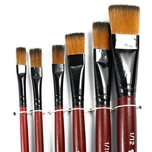 Hemore Malpinsel-Set, Nylon, Acryl, Aquarell, Malerpinsel, Stift, für Künstler, Studenten, Schulbedarf, DIY Garten Handwerkzeuge