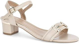 Ceriz Women's Gabriella Beige Ankle Strap Sandals