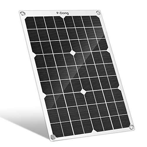 N / A P-Dong 15W 12V/5V Solar Panel Battery Charger with USB Output Ports for Car, RV, Boat, Cell Phone & More