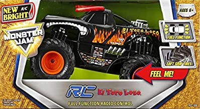 Monster Jam Monster Trucks El Toro Loco New Bright R/C Remote Control Full Function Vehicle with Soft Grip Tires 1:15 Scale New in Box