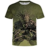 Camiseta De Superhéroe Groot, Novedad De Verano, Estampado 3D para Hombres Y Mujeres, Camiseta De Groot con Macetas De Groot-Beige_L