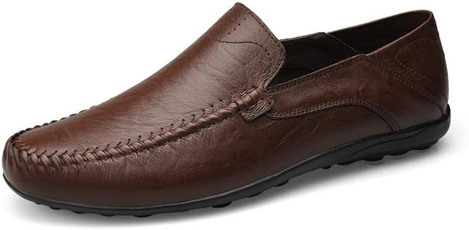 FuweiEncore Men's Moccasins shoes, Men Loafers Slip On Comfortable Moccasins Leisure Lightweight Style Anti-Slip shoes (color  Dark Brown, Size  47 EU) (color   As shown, Size   One size)