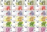 Spielgeld - 120 verschiedene Euro-Scheine in 5?, 10?, 20?, 50?, 100?, 500? // von DEKOSPASS // Rechnen Lernen Kaufmannsladen Spielen Deko -