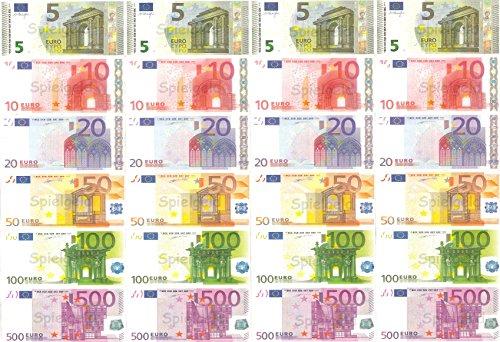 Spielgeld - 120 verschiedene Euro-Scheine in 5€, 10€, 20€, 50€, 100€, 500€ // von DEKOSPASS // Rechnen Lernen Kaufmannsladen Spielen Deko