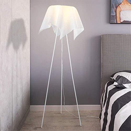 CLJ-LJ Simple lámpara de pie moderna de tela creativo diseño de la forma de acrílico Hierro forjado trípode E27 lámpara de pie con 1,48 M interruptor de pedal Compatible with la sala de estar Dormitor