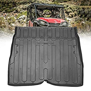 kemimoto Rubber Bed Mat Liner TPE Rear Cargo Bed Liner Mat Compatible with Pioneer 1000 1000-5 2016 2017 2018 2019 2020 2021