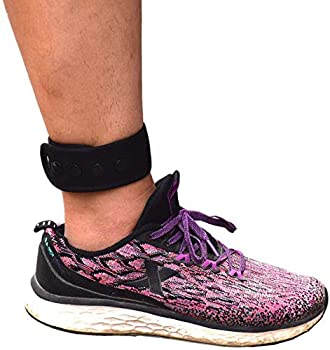 Ankle Strap for Compatible with Fitbit & Garmin Ankle Band for Compatible with Charge 2/3 Alta/HR Flex/2 Fitbit One or Garmin Vivofit/2/3/4 Ankle Band for Men and Women  Black X-Large