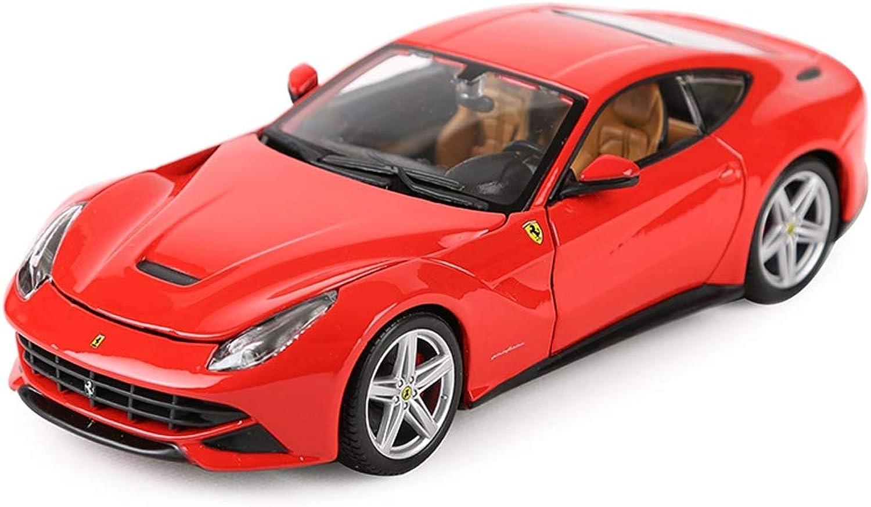 Hyzb Modèle de Voiture 1 24 Ferrari F12 Berlinetta Simulation Alliage Moulage sous Pression Jouet Bijoux Collection de Voitures de Sport Bijoux 19x7.8x5.5CM (Couleur   rouge)