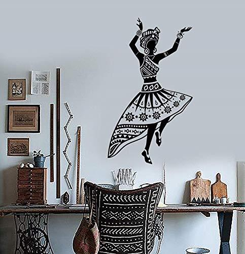 Vinilo Tatuajes de pared Bailarina africana Ben Turbante...