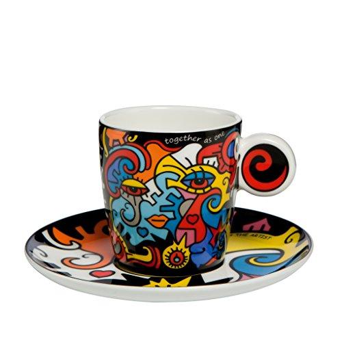 Goebel - Pop Art Together - Espressotasse mit Untertasse - Bone China Porzellan - 0,1 l