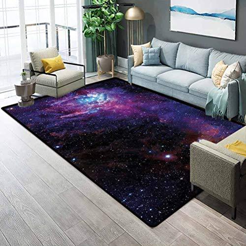 Galaxy Bathroom Rug Rugs for Living Room Starry Night Nebula Cloud...