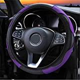 MDHANBK Car Steering Wheel Cover Non-Slip Leather Protective Cover, for Peugeot 508 307 SW 5008 308 207 206 2008 301 406 607 807 Interior Accessories