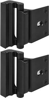 """Home Security Door Lock, Childproof Door Reinforcement Lock with 3"""" Stop 4 Screws Withstand 800 lbs for Inward Swinging Do..."""
