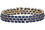 Naava 9 ct Yellow Gold PBC2138 Women's Sapphire Bracelet