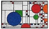 Frank Lloyd Wright 色付きクーンリー プレイハウス ドアマット