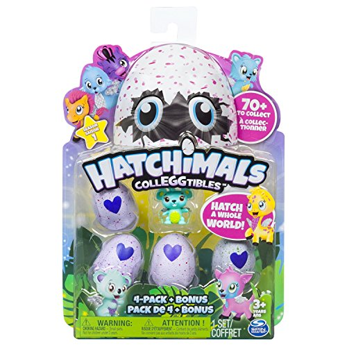 Hatchimals - Pack de 4 figuras coleccionable (Bizak 61921915) , color/modelo surtido