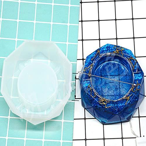aschenbecher CDFSG Aschenbecher Form DIY Kristall Gel Form Kieselgel Form Spiegel Wirkung See Licht Stein Gel Material 12cm S