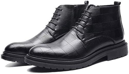 botas para Hombre botas de Trabaño para Exteriores Hauszapatos de esquí de Fondo botas de Senderismo ultraligeras