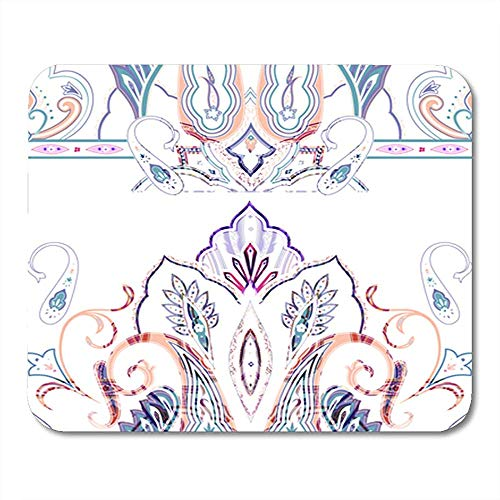 Muis Pads Sjaal Paisley Patroon India Oosterse Hals Bloemen Chinese Border Decor Nonslip Office Mouse Mat Rubber Backing Mousepad 25X30Cm Gaming Mouse Pad