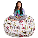 Posh Stuffable Kids Stuffed Animal Storage Bean Bag Chair Cover - Childrens Toy Organizer, X-Large-48