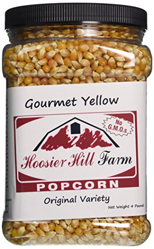American Popcorn Mais Original Yellow (1,81 kg) echter USA Feinschmecker Popping Corn für Kochfeld, Airpopper oder Mikrowelle