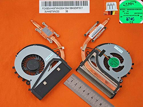 Lüfter Kühler Fan Cooler Version 2 mit Kühlkörper Kompatibel für Sony Vaio SVF15A1YM, SVF15A29M