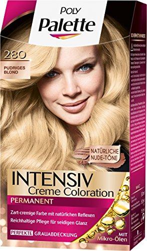 Palette Intensiv Creme Coloration, 280 Pudriges Blond Stufe 3, 3er Pack (3 x 115 ml)