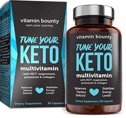 Tune Your Keto - Ketogenic Multivitamin + Electrolytes with MCT, Collagen, Magnesium, Potassium, & MCTSmart™