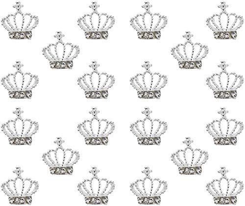 30 stücke Metall Nagel stifte Strass Krone Nail Art Dekoration DIY juwel Charme Handwerk zubehör für Karneval Hochzeit neu Jahr favorie liefert