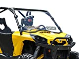 SuperATV Heavy Duty Scratch Resistant Vented Full Windshield for 2011-2020 Can-Am Commander 800/1000 / MAX - Hard Coated On Both Sides!