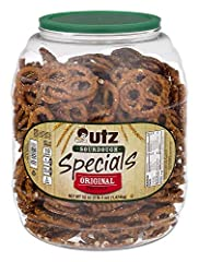 CLASSIC SOURDOUGH FLAVOR: Utz Sourdough Specials Pretzels have just the right amount of salt and a light crunch. These pretzels are made with aged sourdough and baked to give you that soft cracker-like bite in the rich flavor you crave! GREAT FOR DIP...