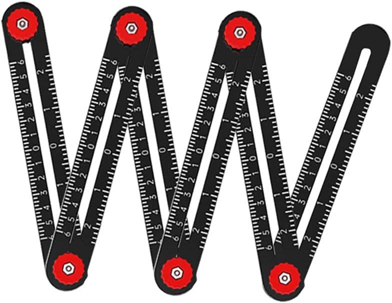 WANGFUFU Multi Angle Measuring Ruler 4 Fold 9 Aluminum Denver Mall 12 free 6 A