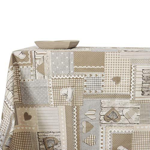 RP Isabelle Country Tirolese - Mantel de Cocina o salón, 100% algodón, Cuadrado, 140 x 140 cm, Color Beige