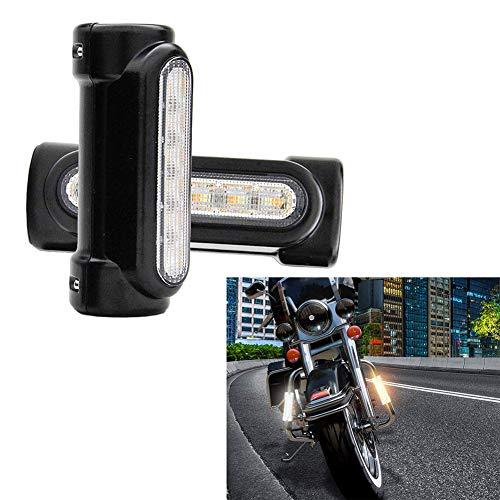 barsku 2pc Motorrad Highway Bar Lichter, Switchback fahren Blinker Bernstein LED für Harley Victory Sturzbügel Harley Davidson Dyna Touring Bikes