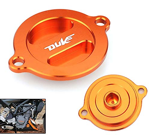 RONGLINGXING Powersports Onderdelen Orange Motorcycle Engine Filter Kapje CNC Aluminium Accessoire for KTM Duke 125 200 390 2013 2014 2015 2016