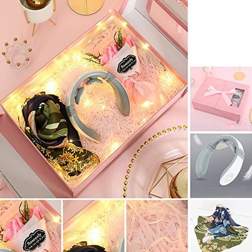 Creative Moederdag Cadeau, Met Nek Brace, Soap Flower Gift Box Set, Met Een Zijden Sjaal, Geschikt Voor Verjaardag, Valentijnsdag, Jubileum Cadeau Voor Moeder, Grootmoeder, Vrouw, Vriendin,2
