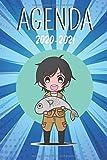Agenda 2020-2021: Agenda Scolaire Manga | semainier | primaire collège lycée | objectifs | Emploi du temps | Calendrier | Sep 2020 à septembre 2021 | ... A5 141 pages / Garçon Fille cartoon comique