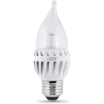 Feit EFC//DM//300//5K//LED 40W Equivalent Daylight Medium Base Flame Tip Chandelier LED Light Feit Electric Company