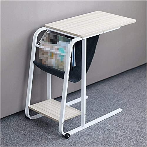 Tabla portátil Mobile Lazy Lazy Laptop Ordenador Portátil Mesa de Juego Cama Ajustable Escritorio Sofá Mesa Lateral Mesa Lado Mesa de Noche (Color : White)