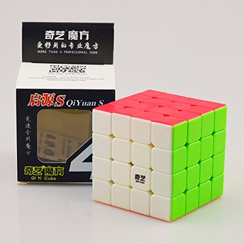 CuberSpeed QiYi Storm V2 (QIYuan S ) 4x4 Magic Cube stickerless Mo Fang Ge Qiyuan S 4x4 Color Speed Cube