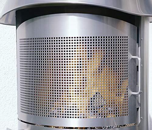 Firestar Funkenschutztür für DN 650 Edelstahl gebürstet Gartenkamin
