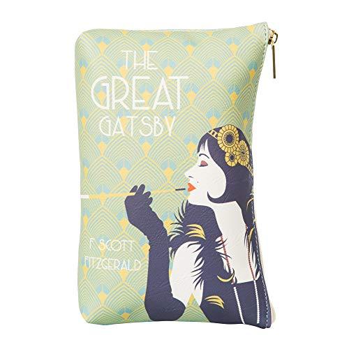 Der große Gatsby Clutch Handtasche für Literaturliebhaber - Kleine Handtasche Damen von Well Read - Kosmetiktasche für Leser - Unterarmtasche